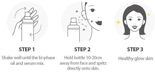 how to use dalba first spray serum