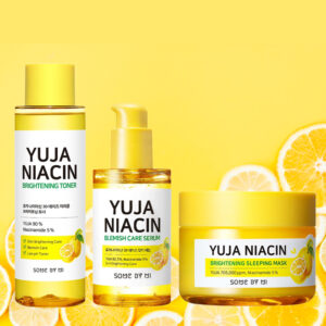 yuja niacin toner serum sleeping mask set